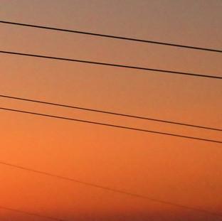 Cielo naranja en Manzaneda