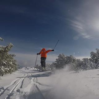 Esquiador volador