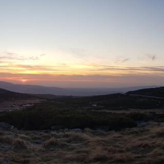 Puesta de sol en Manzaneda