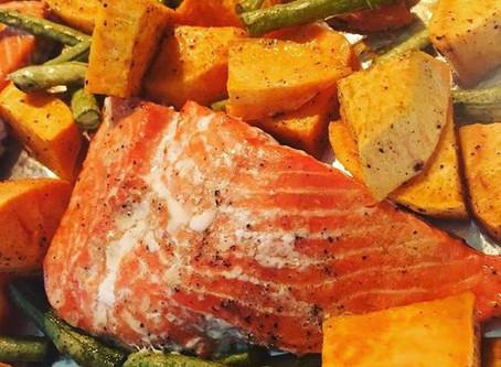 Salmon, Sweet Potatoes & Green Beans