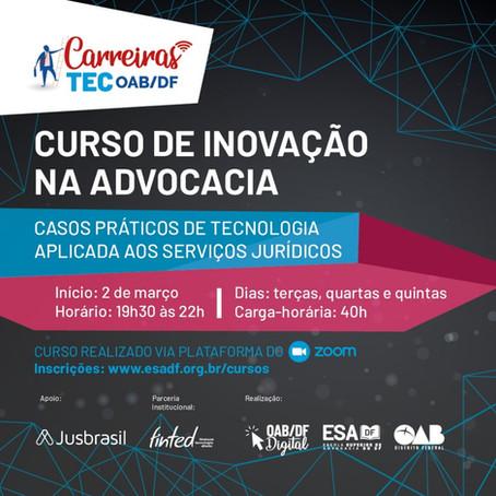 Curso de Inovação na Advocacia: Casos Práticos de Tecnologia Aplicado aos Serviços Jurídicos
