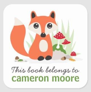 Cute Fox Book Labels $7.85