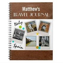custom photo collage personalised travel notebook