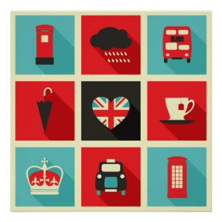 London Icons Poster $18.75