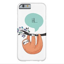 cute sloth hi iphone case