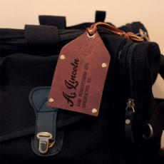 Leather Luggage Tag $14