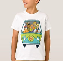 scooby doo mystery machine kids shirt