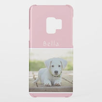 pastel pink personalised photo samsung case