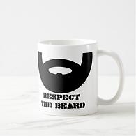 funny respect the beard mens mug