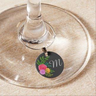 Initial Wine Charm $4.20