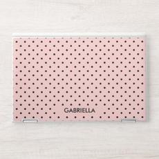 Pink & Black Polka Dot