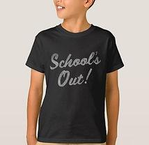 Schools Out Chalkboard Writing Kids Shirt