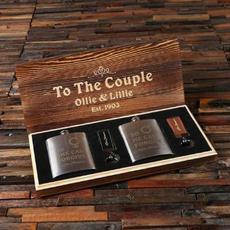 Couples Hip Flask Set $37.99
