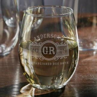 Stemless Wine Glass $17.95