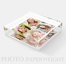elegant custom photo monogram desk paperweight