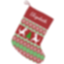 funny trex holiday pattern christmas stocking