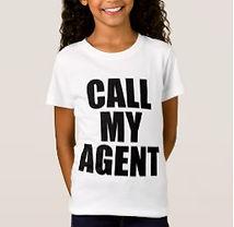 funny call my agent kids slogan shirt