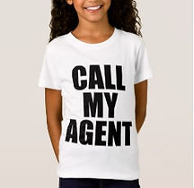 funny call my agent kids slogan shirt