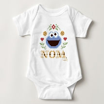sesame street cookie monser nom baby bodysuit