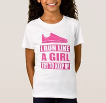 I run like a girl quote girls shirt