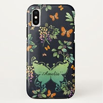 floral butterfly garden art personalised iphone case
