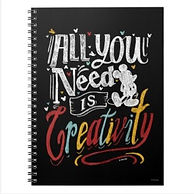 disney mickey mouse creativity quote kids notebook
