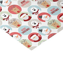 cute christmas characters pattern tissue paper