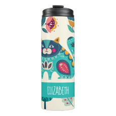 Cat Folk Art Thermos $31.97