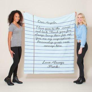 Love Note Blanket $58