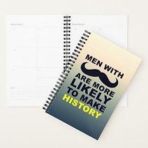 funny mushtache quote mens planner