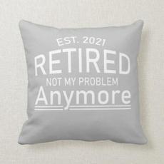 Retired Slogan Pillow $40.40