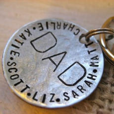 Hammered Disc Keychain $31