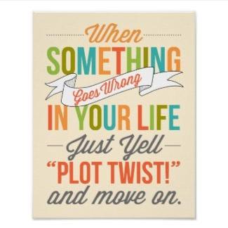 Fun Plot Twist Poster $12.45