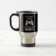 funny age level up games control travel mug
