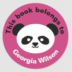 Panda Book Labels $6.65