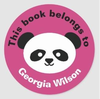 Panda Book Labels $6.65