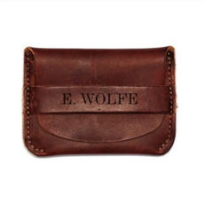 Leather Flap Wallet $34.99