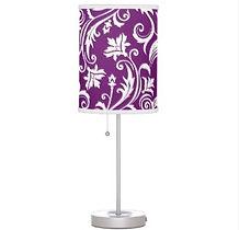 elegant purple pattern table lamp