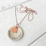personalised metal disks artisan necklace