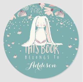 Bunny Book Labels $6.30