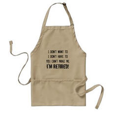 Funny Retired Apron $20.85