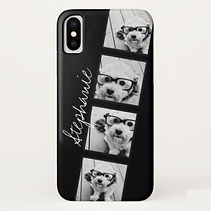 classic custom photo strip black iphone case