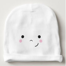 cute emoji face baby beanie
