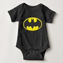dc batman symbol black baby bodysuit