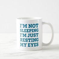 jutresting my eyes funny mens mug