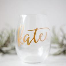 Stemless Wine Glass $15