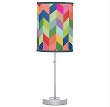 coloful geometric pattern table lamp