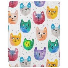 Watercolor Cat Pattern
