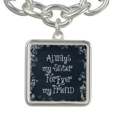Sister Quote Bracelet $25.50