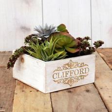 Engraved Planter Box $30